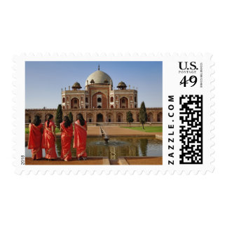 Young Indian ladies and Humayun's Tomb, Delhi, Postage
