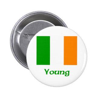 Young Irish Flag Button
