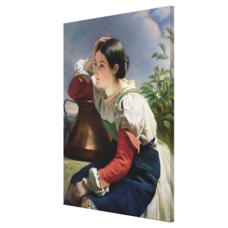 Young Italian at the Well, c.1833-34 Canvas Print