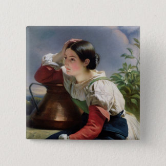 Young Italian at the Well, c.1833-34 Pinback Button