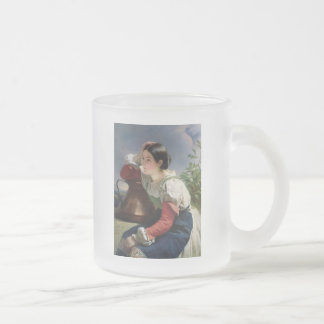 Young Italian at Well Frosted Glass Coffee Mug