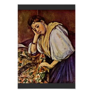Young Italian Girl By Paul Cézanne (Best Quality) Poster