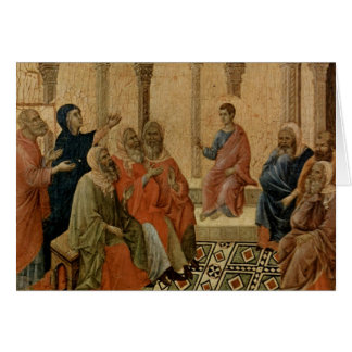 Young Jesus Teaching in the Temple Card
