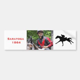 "Young Jockey Sensation ""Luis Saez"" at Saratoga Car Bumper Sticker"