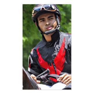 """Young Jockey Sensation """"Luis Saez"""" at Saratoga Business Card"""
