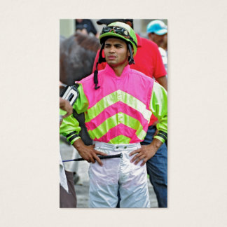 "Young Jockey Sensation ""Luis Saez"" at Saratoga Business Card"