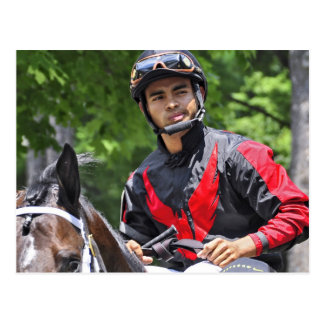 "Young Jockey Sensation ""Luis Saez"" at Saratoga Postcard"