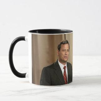 Young John G. Roberts & President George W. Bush Mug