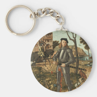 Young Knight in a Landscape 1510 by Vittore Carpac Keychain