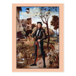 Young Knight in a Landscape by Vittore Carpaccio Postcard