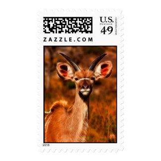 Young Kudu - Postage Stamp