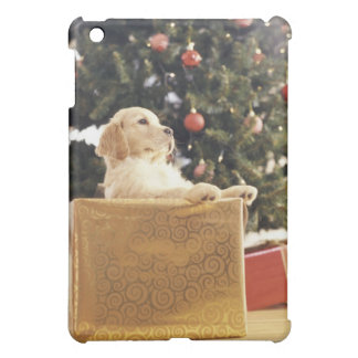 Young Labrador Leaning on a Christmas Present iPad Mini Cover