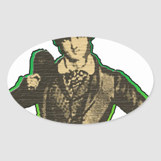 Young Lad Oval Sticker
