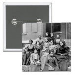 Young Ladies at Fisk, 1890s 2 Inch Square Button