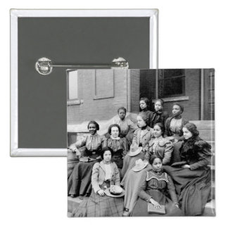 Young Ladies at Fisk, 1890s Button