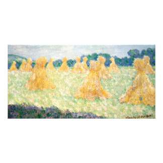 Young Ladies of Giverny Sun Effect by Claude Monet Custom Photo Card