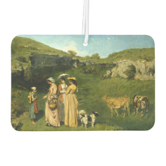Young Ladies of the Village by Gustave Courbet Air Freshener