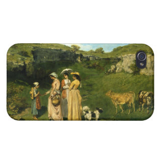 Young Ladies of the Village by Gustave Courbet iPhone 4/4S Cases