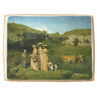 Young Ladies of the Village by Gustave Courbet Jumbo Shortbread Cookie
