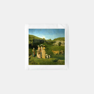 Young Ladies of the Village by Gustave Courbet Reusable Bag