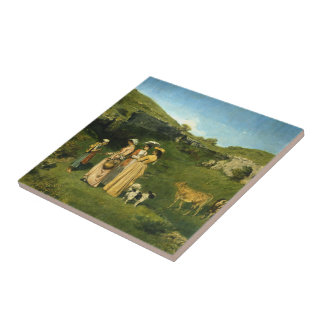 Young Ladies of the Village Tile