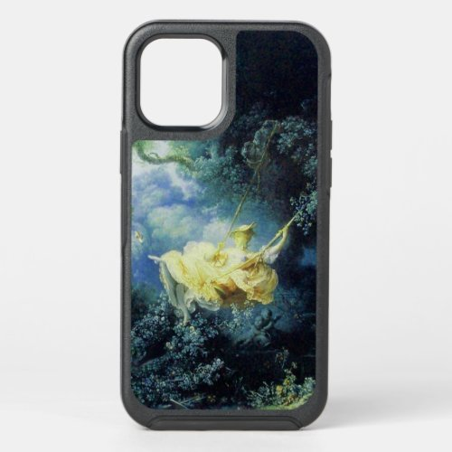 YOUNG LADY AND SWING IN NATURE Blue Yellow iPhone  Phone Case