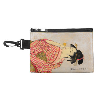 Young Lady Blowing on a Poppin. Accessories Bag