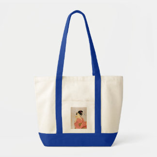 Young Lady Blowing on a Poppin. Tote Bag