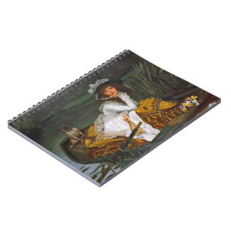 Young Lady Boating 1870 Spiral Notebook
