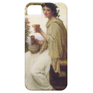 Young lady drinking wine iPhone SE/5/5s case