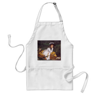 Young Lady & Her Pet Pug in a Boat by James Tissot Adult Apron
