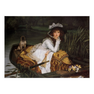 Young Lady In A Boat Poster