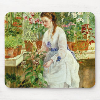 Young Lady in a Conservatory Mouse Pad
