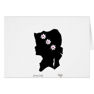 Young Lady Notecard