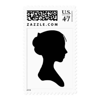 Young Lady Silhouette Stamp