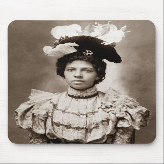 Young Lady with Hat Mousepad