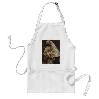 Young lady with her arms folded by Vasily Surikov Aprons