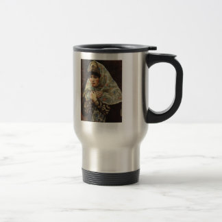 Young lady with her arms folded by Vasily Surikov Coffee Mugs