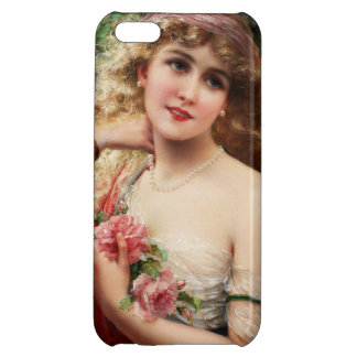 Young Lady With Roses by Emile Vernon Cover For iPhone 5C