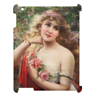 Young Lady With Roses by Emile Vernon Cover For The iPad