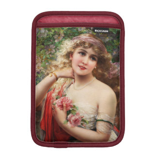 Young Lady With Roses by Emile Vernon iPad Mini Sleeve