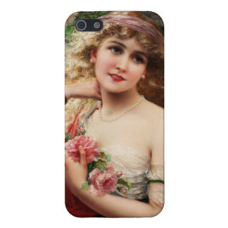 Young Lady With Roses by Emile Vernon iPhone SE/5/5s Case