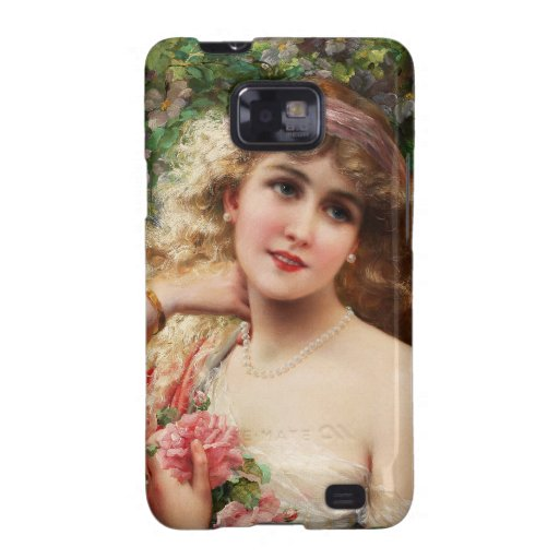 Young Lady With Roses Samsung Galaxy S2 Cover