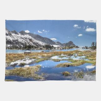 Young lakes - Yosemite - Sierra Nevada Mountains - Kitchen Towel