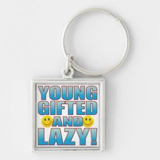 Young Lazy Life B Keychain