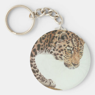 Young Leopard Painting Keychain