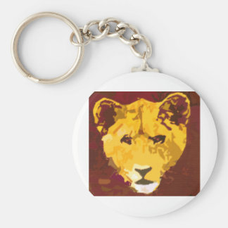 Young Lion Face Keychain