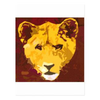 Young Lion Face Postcard