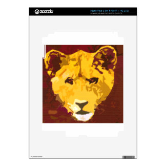 Young Lion Face Skin For iPad 3