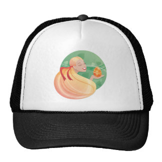 young long hair girl Easter Trucker Hat